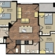 Park Place apartments 3 bedroom floorplan