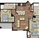 Park Place apts 2 bedroom floor plan