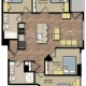 Park Place apartments 4 bedroom floorplan