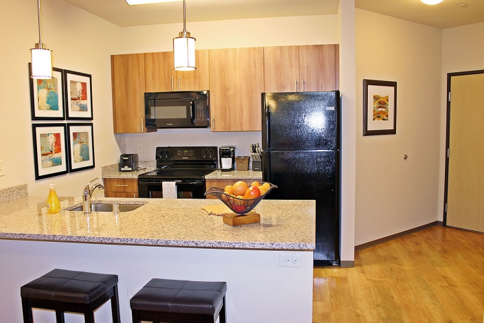 corporate housing Madison kitchen