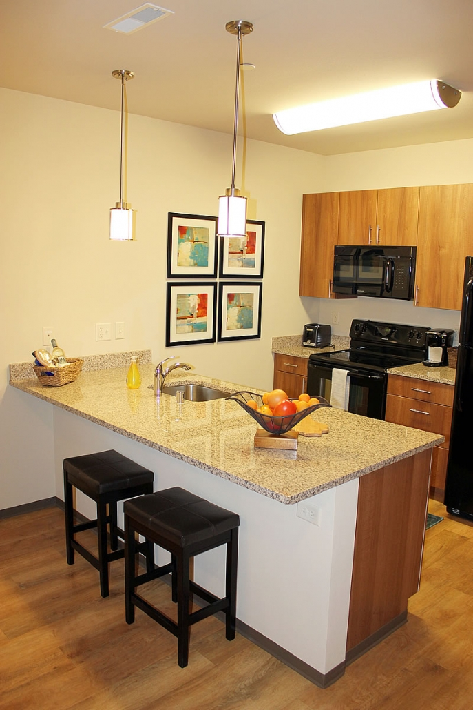 Madison corporate suite kitchen