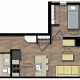 City View Apartment 1 Bedroom Floor Plan